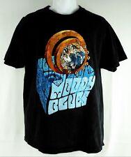 THE MOODY BLUES Mens Concert T-Shirt December Tour 2003 Sz L Black Fabric Fr USA