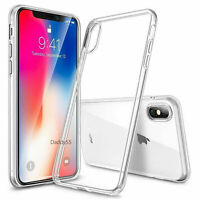 NEW IPHONE X XS ULTRA SLIM CLEAR SILICONE SOFT GEL BUMPER COVER CASE SHOCKPROOF