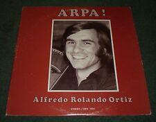 Arpa! Alfredo Rolando Ortiz~AUTOGRAPHED~1980 Private Latin Harp~VG++ Vinyl