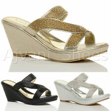 Evening Platforms, Wedges Textile Shoes for Women