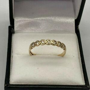 9ct Gold Hallmarked Cubic Zirconia Eternity Ring.  Goldmine Jewellers.