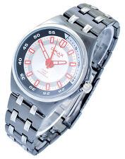 Omax Herrenuhr Schwarz Silber Analog Metall Armbanduhr Quarz D-60412113552685