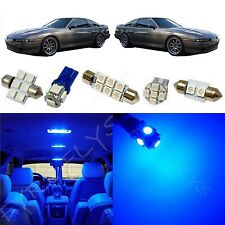 6x Blue LED lights interior package kit for 1986-1992 Toyota Supra TS4B