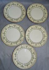 Aynsley England Fleurette Set of 5 Bread Plates - Bone China