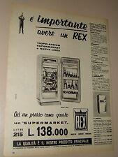 REX FRIGORIFERO ELETTRODOMESTICI=ANNI '50=PUBBLICITA=ADVERTISING=WERBUNG=573