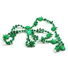 Weed Leaf Pot 420 Costume Mardi Gras Mini Beads Pack Of 4 Cannabis Party Favor