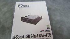 Siig USB 2.0 9-in-1 RW Black JU-91RW12-S4