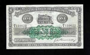 WWII RARE 1946 PROVINCIAL BANKNOTE IRELAND NORTHERN IRISH ONE 1 POUND BELFAST UK