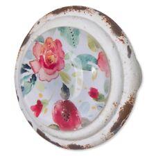 Pink Peach Aqua Lime Green Floral Metal Glass Door Knob Cupboard Cabinet Handle