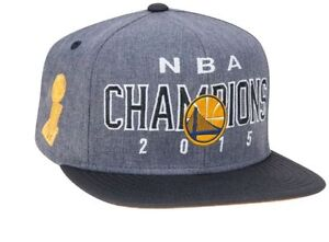 NEW! 2015 NBA Champions GOLDEN STATE WARRIORS Adidas Locker Room Grey HAT Unisex