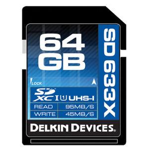 Delkin 64GB SDHC Elite 633X UHS-I Class 3 Memory Card ->Lifetime Warranty
