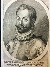 Fabius Farnesius EQ. Hierosolymit Honorarior. Italie Rome Farnese estampe XVIIIe