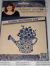 "TATTERED LACE DIES ""FLORAL WATERING CAN"" TTLD544  FOR CARDS & SCRAPBOOKING ALBUM"