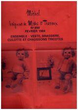 ▬► PATRON Poupée modèle Tricot - Modes et Travaux Baigneur Michel N°9912 1984