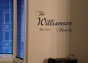 Family name custom vinyl Decal Established sticker