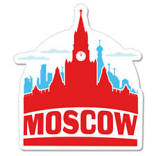 """Moscow Russia Travel  car bumper sticker decal 4"""" x 4"""""""