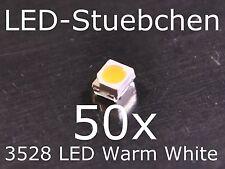 50x 3528 warmweiss SMD LED cinturón sección