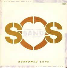 "THE SOS BAND borrowed love A 7241 near mint disc uk tabu 1986 7"" PS EX/EX"