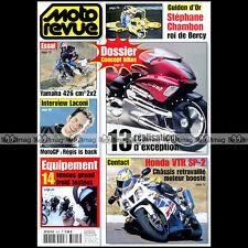 MOTO REVUE N°3505 YAMAHA FZS 600 FAZER ★ HONDA VTR 1000 SP-2 ★ GUIDON D'OR 2002