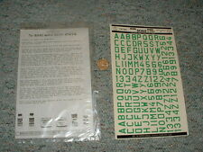 Microscale decals 1/72 72-42  Luftwaffe id letters numbers 90m green  G24
