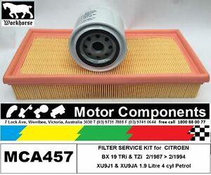 FILTER KIT Oil Air Fuel for CITROEN BX XU9J1 XU9JA 1.9L Petrol 2/1987 > 2/1994