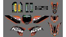 Kit deco pour moto cross KTM SX50 SX 50  Haute Qualité 2008 a 2015