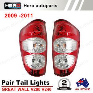 Pair of Tail Light Lamp For GREAT WALL V200 V240 UTE 6/2009 - 12/2011 LH+RH