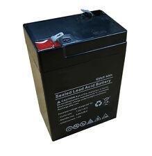 6v 6 Volt 4Ah / 4000mAh Rechargeable Sealed Lead Acid Alarm Back Up Battery