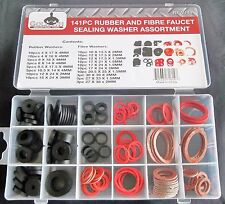 141pc GOLIATH INDUSTRIAL RUBBER / FIBRE FAUCET SEALING WASHER ASSORTMENT RFW141