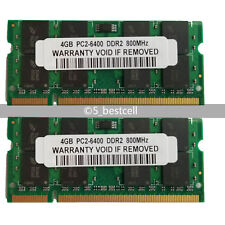 New 8GB 2X4GB PC2-6400 DDR2 800Mhz 200pin PC6400 Laptop Memory Upgrade Non-ECC