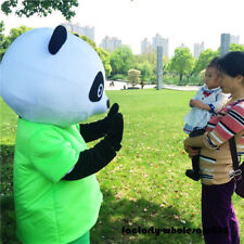 Chinese Panda Bear Mascot Costume Dress Adult Outfit birthday party clothing hot