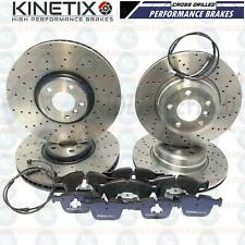 FOR BMW X5 X6 M50d FRONT REAR DRILLED BRAKE DISCS PADS WIRES SENSORS FR RR