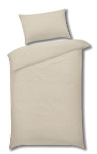 Sleepscene Cotton Rich Duvet Set in Cream, Multiple Sizes Available