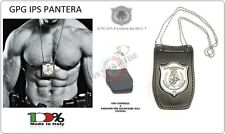 Portaplacca Collo Cintura PANTERA® GPG-IPS Guardia Particolare Giurata 1WB-GPGIP