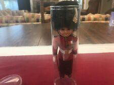 Vintage British Royal Guard Soldier Doll in Orig. Plastic Stand Up Tube