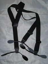 "Suspenders/Braces - Stretch - (Black) - Civil War - Mountain Man - Uniform-""NEW"""