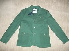 TOMMY HILFIGER Green Twill SPORT Jacket Blazer Suit COAT mens Sz LARGE rt $199