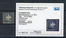 WÜRTTEMBERG Nr.20y gestpl. Befund Heinrich BPP ME 2.800,-++ !!! (131670)