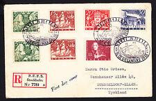 Briefmarken aus Schweden mit Geschichts-Motiv