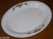 """Vintage C.P. Co. Porcelain 13"""" Oval Serving Platter - Pink and Orange Floral"""