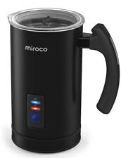 Miroco Electric Milk Frother and Steamer Hot and Cold MI-MF001, Black Open Box