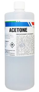 100% Pure Acetone 1 Litre - Gel Acrylic Polish Remover - Thinner - Solvent 1L