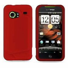 Silicone Skin Case for HTC Droid Incredible - Red