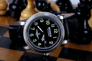 Watch Buran Automatic Mechanical Avia watch 12-Hour Stainless Steel Exclusive