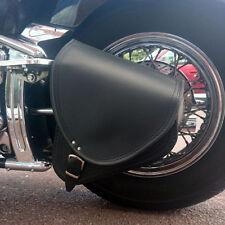 Yamaha Xvs650 Dragstar Cuir Noir Bras Oscillant Sacoche Simple Sacoche Latérale
