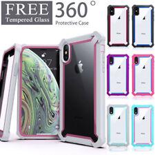 Para iPhone XR XS MAX 6 7 8 más transparente Funda cubierta a prueba de choques Híbrida de Alta Resistencia