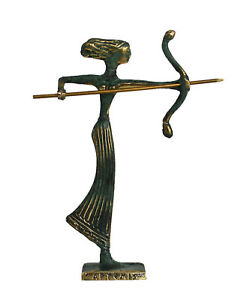 Artemis mini Bronze statue - Ancient Goddess of Hunt - Diana Mistress of Animals