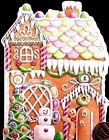 CAROL'S ROSE GARDEN Gingerbread Man House *EMBOSSED* Christmas Greeting Card NEW