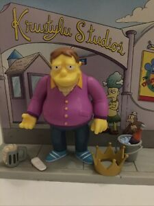 PLAYMATES INTERACTIVE THE SIMPSONS SERIES 11 PLOW KING BARNEY COMPLETE WOS