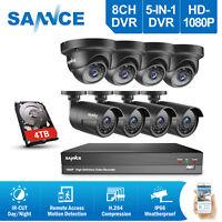 SANNCE Full HD 1080P 8CH DVR 2MP Video CCTV Home Security Camera System IR CUT